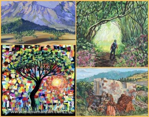 Manu Marzáns Landschaften von La Palma: Manche haben einen expressionistischen Touch, wenn er mit dem Spatel arbeitet.