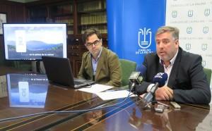 La Palmas Infrastrukturrat Jorge González (rechts): präsentiert neue La Palma App. Foto: Cabildo