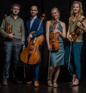 Das North Sea String Quartet: Die Streicher aus Holland mit dem Geiger Pablo Rodríguez aus La Palma, der in den Niederlanden wohnt, geben drei Konzerte auf La Palma. Foto: Band/Felipe Pipi