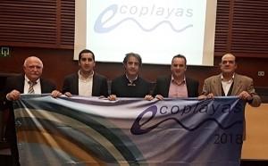 Stolze Bürgermeister bei der Verleihung des Öko-Wimpels 2017: Der flattert nun an den Stränden von Bajamar, Los Cancajos, Tazacorte und San Andrés y Sauces.
