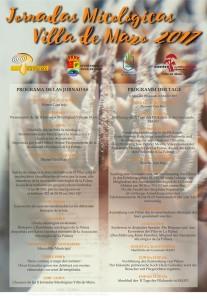 Pilztage in Mazo: Das Programm auf Spanisch und Deutsch - aufs Bild klicken.