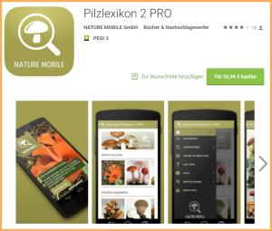 Die App von Rose Marie Dähncke für Pilzsucher: kann für iTunes und Android heruntergeladen werden.