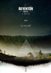 Beliebter Trailrun - tolles Plakat:Das Plakat zum Reventón Trail El Pso 2018 hat der palmerische Künstler Carlos Hernández entworfen: Nachtlandschaft über El Paso.