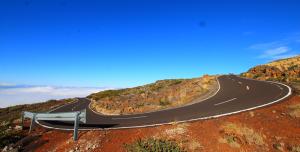 Die LP-4 zum Roque: am heutigen Montag immer mal wieder gesperrt. Foto: Obras publicas La Palma