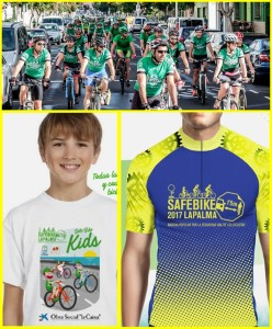 Safe Bike La Palma: jedes Jahr gibt es schicke Trikots - 2016 waren sie grün, 2017 sind sie gelb-blau. Fotos: Safe Bike La Palma