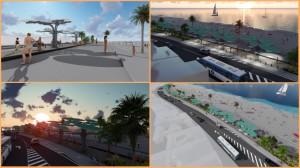 Modelle der künftigen Gestaltung der Avenida Marítima in Santa Cruz de La Palma: mehr Raum für Fußgänger und Radfahrer. Modelle: GobCan