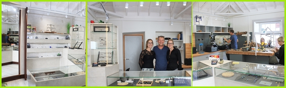 Volcán Verde: Das Team um Frank Hofmeister im neu gestalteten Werkstatt-Laden.