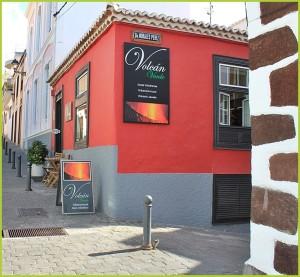Volcán Verde: das rote Haus gleich hinter der Kirche von Tazacorte.