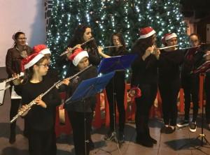 Weihnachten 2017 steht vor der Tür: Auf La Palma wird überall festlich musiziert. Foto: Inselmusikschule