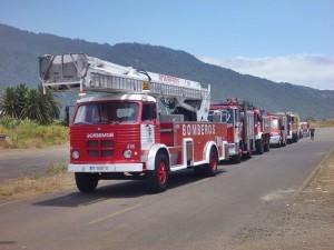 Die Flotte der Bomberos von La Palma: Nach und nach werden die teils mehr als 25 Jahre alten Feuerwehrfahrzeuge ausgetauscht. Foto: Cabildo