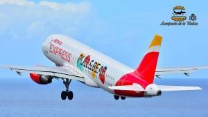 Iberia Express: Direktverbindung vom Drehkreuz Madrid nach SPC achtmal pro Woche im Sommer 2018. Foto: Carlos Díaz