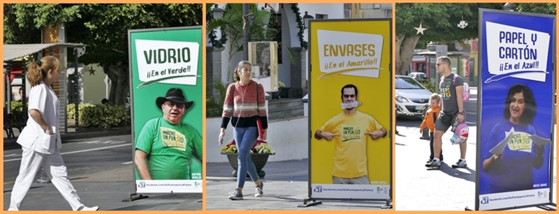 Werbung für mehr Mülltrennung auf La Palma. Die Kampagne der Inselregierung zur Aufklärung in Sachen Recycling namens Márcate un Punto por La Palma hat in den sozialen Netzwerken mehr als eine halbe Million Menschen auf der Insel und außerhalb erreicht. Dies hat das Cabildo jetzt auf der Basis von Internetzahlen errechnet. Unterstützt wurde die Werbeaktion von Künstlern wie Aarón Gómez, Luismi Castillo, Ramón Araújo, Yapsi Bienes, Nieves Bravo oder José Victor Fuentes. Auch namhafte Fotografen beteiligen sich an der Aufklärung über die Nutzung der Container zur Mülltrennung, die überall auf La Palma bereit stehen. Anlass dazu gibt, dass die Recycling-Bilanz im vergangenen Jahr enttäuschend ausfiel.
