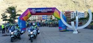Safe Bike La Palma 2017: Start in Tazaccorte - insgesamt reihten sich auf der Strecke mehr als 1.000 TeilnehmerInnen ein. Foto: Cabildo