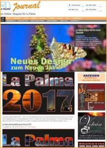 Das neue Layout der La Palma 24-Journal Startseite: übersichtlicher und kürzere Ladezeiten.