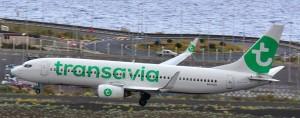 Transavia: The Jet from Amsterdam to SPC. Photo: Carlos Díaz