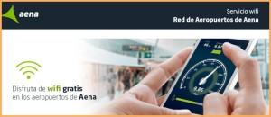 Auf allen spanischen Flughäfen der AENA: neues und schnelleres Gratis-Internet.