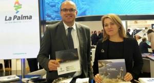 Alicia Vanoostende: Die Inseltourismusrätin wirbt auf der FITUR in Madrid für La Palma. Foto: Cabildo