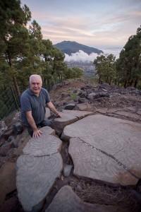 """Jorge Pais: Der """"Chefarchäologe"""" von La Palma wurde jetzt für seine Forschungen im Bereich der Petroglyphen geehrt."""