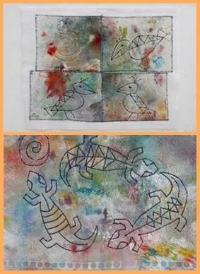 Carola Fiedler: Textilarbeiten.