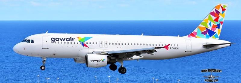 Neue Airline auf La Palma. Unser Flughafen-Spotter Carlos Díaz hat am Mittwoch, 10. Januar 2017, die erste Landung eines Airbus A320-214 der Gowair Vacation Airlines auf dem SPC-Airport ins Bild gebannt. Diese Maschine brachte Inselgäste aus Amsterdam - die Fluggesellschaft hat ihren Sitz jedoch in Madrid. Im Sommer 2017 hob das erste Flugzeug dieser2016 gegründeten Gesellschaft ab, die zum spanischen Reiseveranstalter Gowaii gehört. Die Charter-Airline hat sich zum Ziel gesetzt, zunächst die Nachfrage nach Plätzen im Ferienmarkt speziell auf den Kanaren und Balearen zu bedienen; später will man auf der Langstrecke aktiv werden. Mehr über Gowair hier klicken.