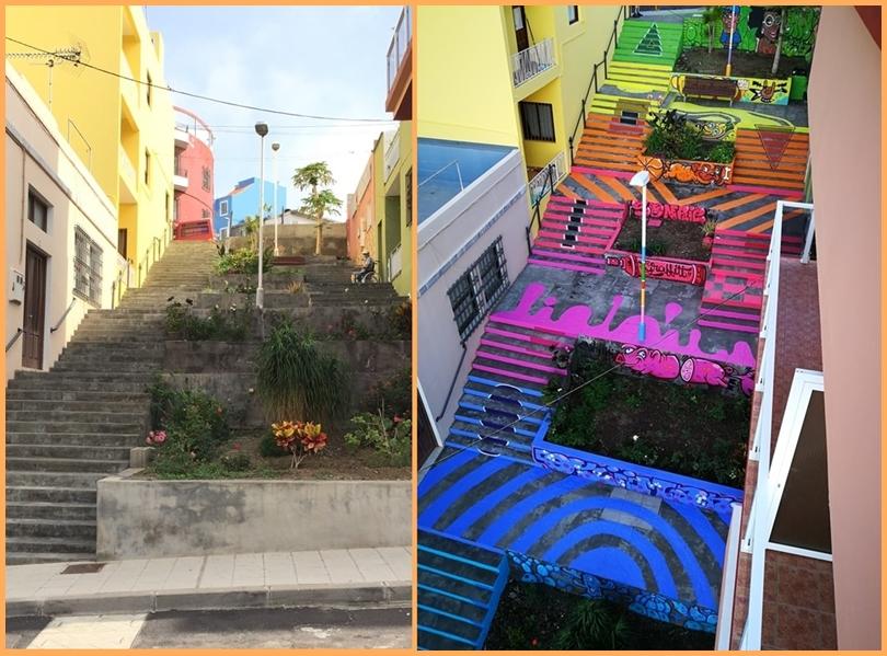 Los Llanos startet Verschönerungsprogramm. Unter dem Titel Efímeria soll künftig Kunst auch die dezentralen Stadtteile von Los Llanos bunter machen. Wie die Stadt weiter mitteilt, läuft diese Aktion unabhängig vom Projekt La Ciudad en el Museo, bei dem Künstler in den vergangenen Jahren viele Häuserwände plakativ gestaltet haben. Die erste Efímeria-Realisierung ist nun im Stadtteil La Montaña in der Nähe des Centro Salud sichtbar: Der Graffiti-Spezialist Okiman hat hier einen Hingucker für Anwohner und Inselgäste geschaffen.