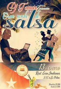 Salsa-Nacht im Indianos-Restaurant: Thomas legt auf.