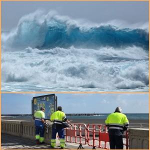 Achtung Welle am Freitag: Santa Cruz hat sogar den Strand gesperrt. Fotos: Facundo Cabrera/Stadt