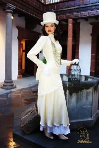 Eine der Roben von Marisol Pais: Schick zum Día de Los Indianos. Foto: indianos.info