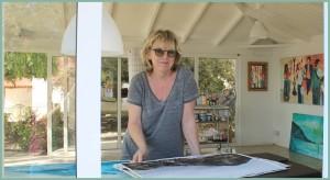 Sylvias Arbeitsplatz: In ihrem Atelier-Pavillon im Garten können Interessenten sie auch mal besuchen.