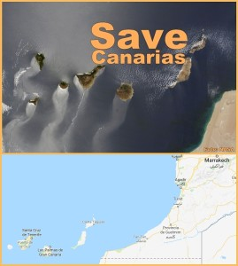 Die Kanarischen Inseln liegen vor der Marokkanischen Ostküste: