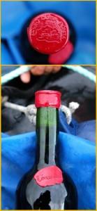 Gut behütet: Siegellackverschlüsse über den Korken verhindern, dass Meerwasser in die Flaschen gerät. Fotos: Tendal