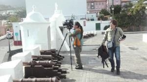 Japanisches Filmteam in Santa Cruz de La Palma: Dreharbeiten