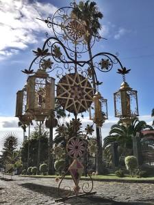 Corpus Christi in Mazo: an impressive flower jewelry.