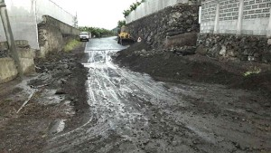 Good news: To solve the flooding problem of the road to El Remo. Photo: Chapter