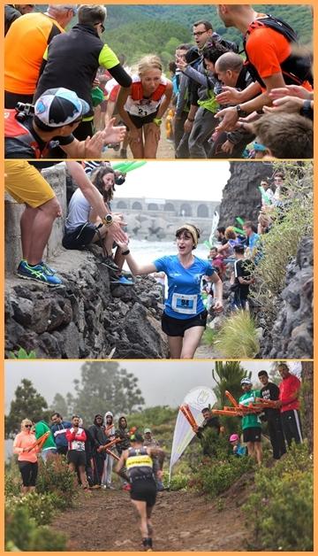 Transvulcania: wird La Palma-Party genannt, weil das Publikum und die Stimmung außergewöhlich gut sind. Fotos: TRV
