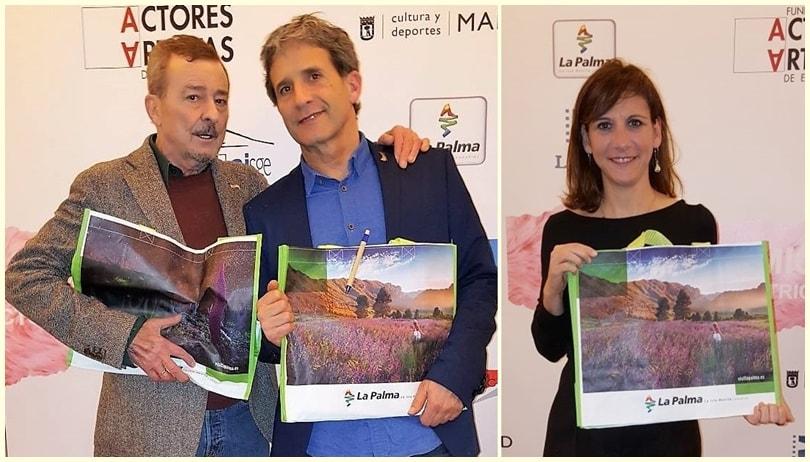 Namhafte spanische Schauspielerwerben für La Palma. Bei einer Pressekonferenz in Madrid, bei der die Nominierungen für die Preise der spanischen Schauspielervereinigung Unión de Actores y Actrices de España bekannt gegeben wurden,rückte auch die Isla Bonita in den Fokus der Kameras: Einige der renommierten Mimen wie Juan Diego, Carlos Hipolito, Iñaki Guevara, Inma Cuevas und Malena Alterio ließen sich von den Medien mit Fotos von La Palma in der Hand ablichten. Inseltourismusrätin Alicia Vanoostende erklärte, diese gemeinsam mit der La Palma Film Commission ins Leben gerufene Aktion sei Teil der Kampagne zur Förderung der jüngst ins Leben gerufenen Marke La Palma, La Isla Bonita. Diese solle von nun an nicht nur im audiovisuellen Bereich, sondern auch in der touristischen Werbung für die Insel eingesetzt werden.