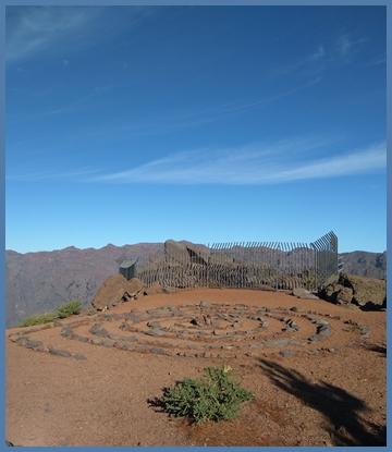 Restauriere Spirale am Pico de La Sabina: Auch hier trafen sich die Ureinwohner. Foto: Cabildo