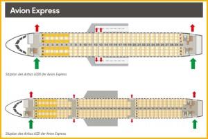 Darstellung der Plätze in einem Avion Express-Flieger: Condor informiert im Internet über die Partner Airlines.