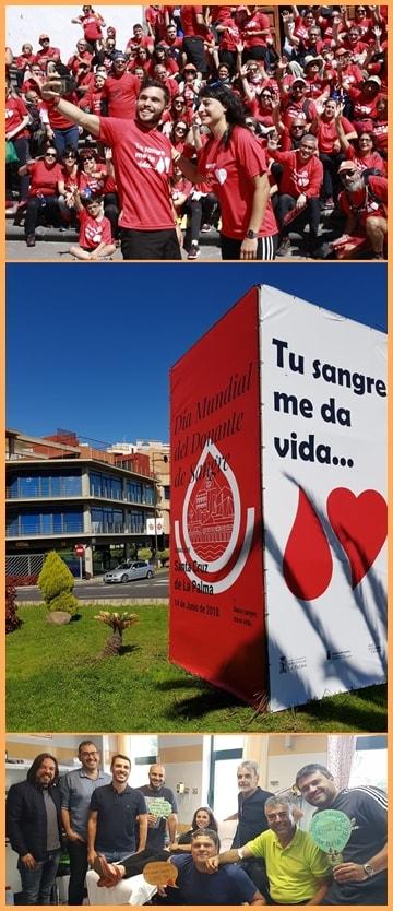 Blutspende-Hauptstadt Santa Cruz: Eine Kampagne nach der anderen für den guten Zweck. Fotos: Stadt