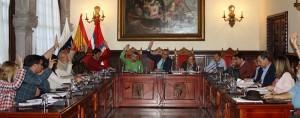 Gemeinderat Santa Cruz de La Palma: Moment der Abstimmung zum Etat 2018. Foto: Stadt