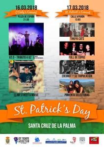 St. Patrick´s Day auf La Palma: zwei Tage Konzerte in Santa Cruz. Aufs Foto klicken und groß sehen.