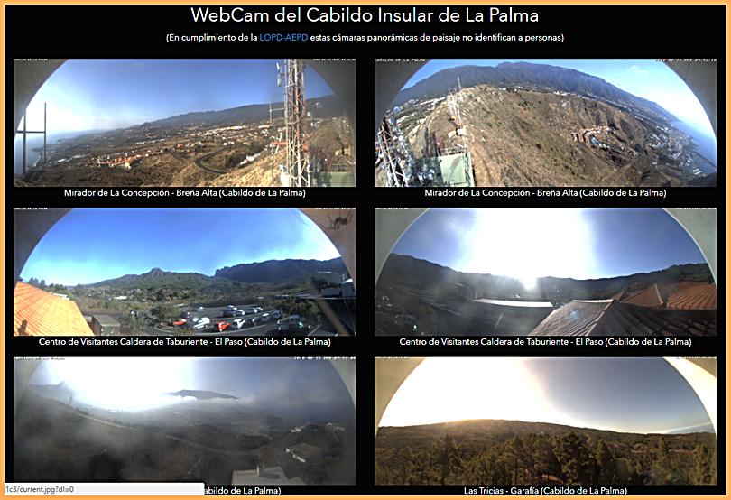 Webcams des Cabildos von La Palma: rings um die Insel stationiert.