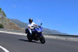 Motorradfahren auf La Palma: eine schöne Sache, aber es gilt, vorsichtig zu fahren. Foto: La Palma 24