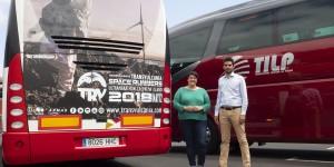 TRV 2018: Busse transportieren die BergläuferInnen und das Publikum.