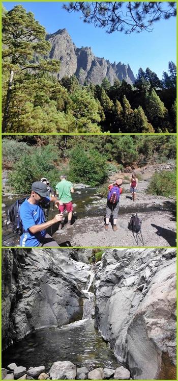 Wandern im Flussbett des Barranco de Las Angustias von der Caldera nach Tazacorte:
