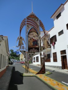 Blumenschmuck in Mazo: jedes Jahr zu Corpus Christi. Foto: La Palma 24