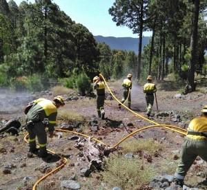 EIRIF-Truppen: Die Spezialeinheiten stehen nicht nur als Verstärkung der örtlichen Fire-Fighter bereit, sondern helfen auch bei der Waldbrand-Prävention. Foto: GobCan