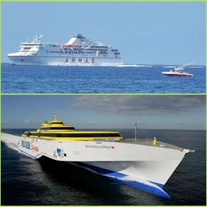 Teneriffa-La Palma geht auch mit dem Schiff: Fast täglich kreuzen auf dieser Strecke über den Atlantik die Fähren von Fred Olsen und der Naviera Armas.