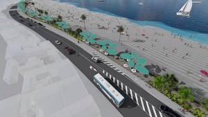Ein Modell der baulichen Veränderungen in der Avenida Marítima in Santa Cruz de La Palma: Weniger Raum für den Verkehr, mehr Platz für Menschen und mehr Parkplätze.