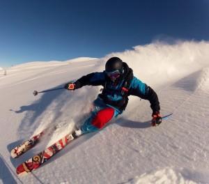 Hannes Namberger: Der Top-Skifahrer aus dem B-Kader des DSV zeigte auf La Palma, dass er auch beinharte Trails über die Vulkane von La Palma packt. Foto: Hannes